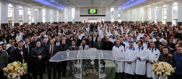 Conversões e grande mover espiritual marcam Batismo de 240 novos membros na IEADJO